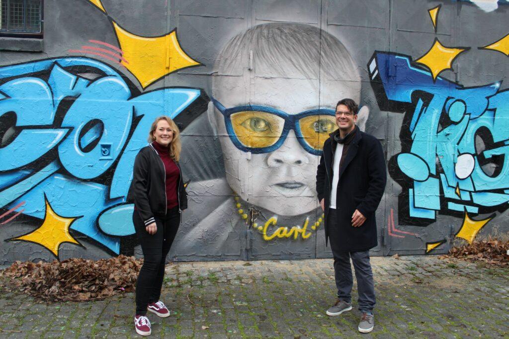 Organisieren die Wiedereröffnung der CD-Kaserne: Steffi Fritzsche und Kai Thomsen (vlnr)