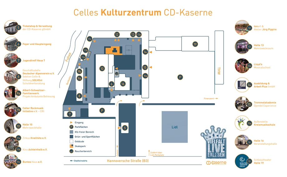 Geländeplan CD-Kaserne