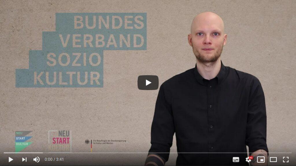 Video-Grußwort von Dr. Thomas Gaens, Projektleiter NEUSTART KULTUR beim Bundesverband Soziokultur e.V. zur Eröffnung der Litprom Literaturtage