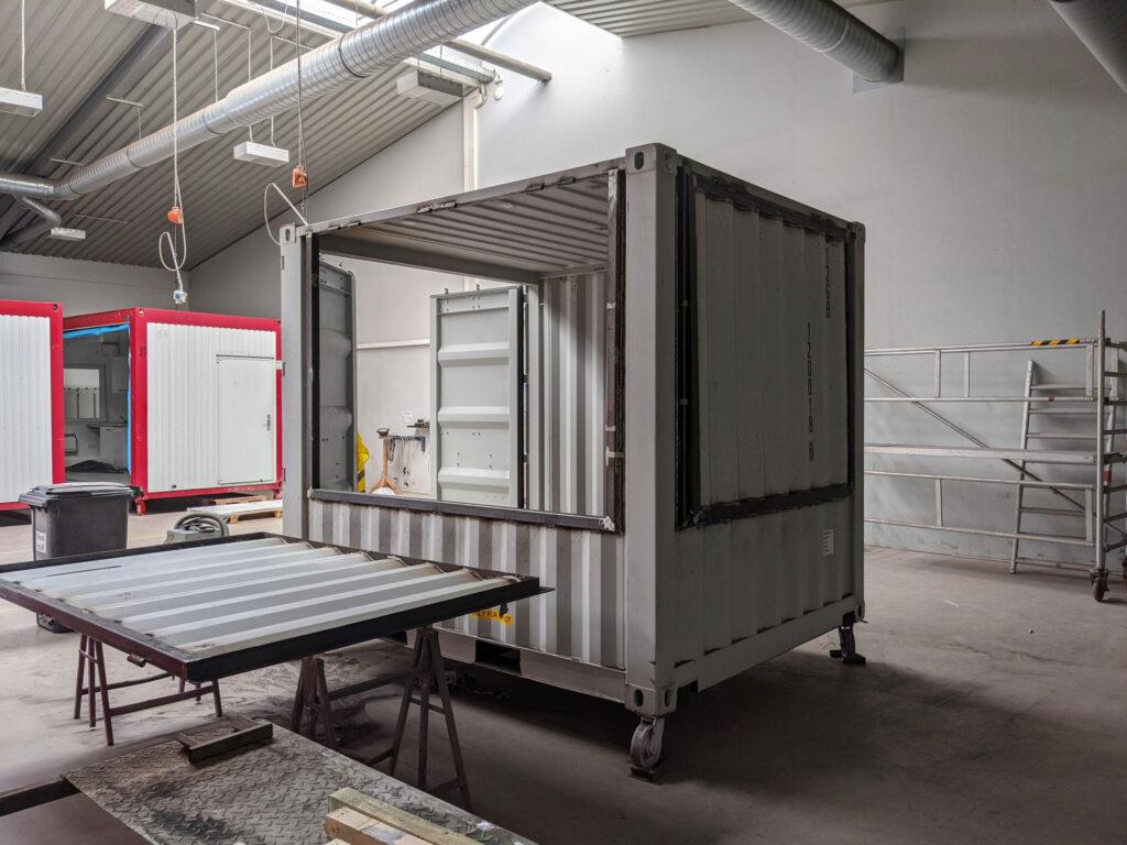 Kulturetage Oldenburg / kreativ:LABOR - Über NEUSTART KULTUR finanzierte Container sollen als Kassenhäuschen, Kiosk und Infopoint genutzt werden.