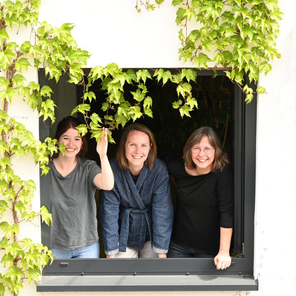 Das kreativ:LABOR-Team: Susan Mertineit, XX, YY (vlnr)