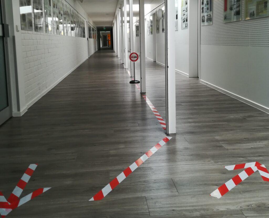 Akademie der kulturellen Bildung - Unter den Bedingungen des Lockdowns musste zunächst vieles neu gedacht werden. So auch die Besuchersteuerung im Gebäude.
